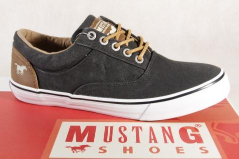 Mustang Schnürschuhe Sneaker Sneakers Halbschuhe schwarz Stoff Textil 1225 NEU