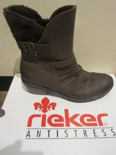 Rieker Stiefel, braun, kein Leder, warm gefüttert 90764, NEU