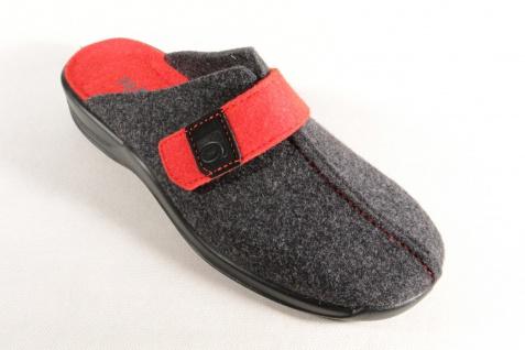 Rohde Damen 2315 Pantoffel, Softfilz, schwarz/ rot 2315 Damen NEU!! 0c416e