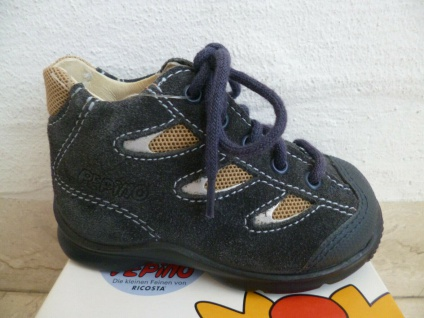 Ricosta Stiefel Boots Lauflern-Stiefel blau Leder Neu !!!