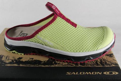Salomon Clogs RX Slide, gelb/ violett, Lederinnenfußbett NEU