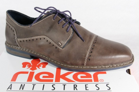 Rieker Herren Schnürschuhe Sneaker Halbschuhe Sneaker Schnürschuhe grau, Lederinnensohle, NEU! c8b33d