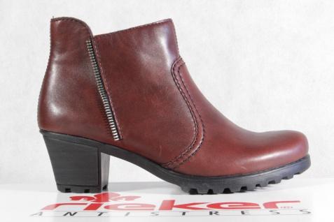 Rieker Damen Stiefel Stiefelette Stiefel NEU! rot Reißverschluß Y8070 NEU! Stiefel 9b27eb