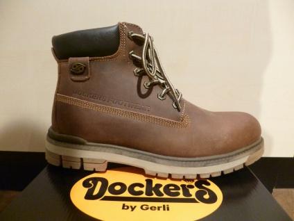 Dockers Stiefel Stiefelette Stiefeletten Boots braun Leder 43LU001 NEU