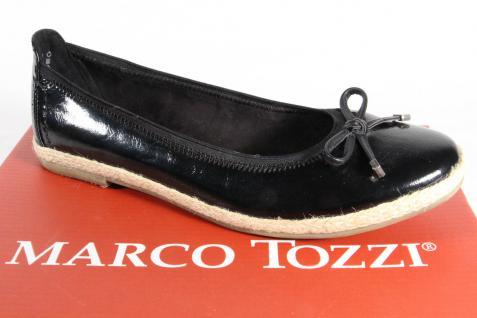 Marco Tozzi Slippers Ballerina Slippers Tozzi schwarz, Lack NEU! c1b7b2