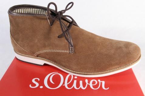 S.Oliver , Herren Schnürschuh Sneaker braun , S.Oliver Echtleder, NEU!! 1033d2