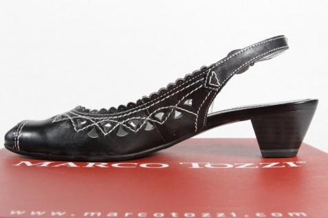 Marco Tozzi Damen schwarz Sling Sandalen Sandaletten Echtleder schwarz Damen NEU! 977a27