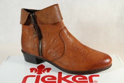 Rieker Damen Stiefel Y07A8 Stiefelette Stiefeletten Boots braun Echtleder NEU!