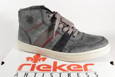 Rieker Herren Stiefel 30934 Boots Stiefelette Schnürstiefel grau/blau NEU