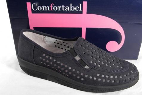 Comfortabel NEU! Damen Slipper, blau, Lederinnensohle, NEU! Comfortabel 881197