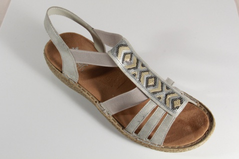 Rieker Damen Sandale, Sandalen 65809 Sandaletten grau weiche Innensohle, 65809 Sandalen NEU!! 6d0d70