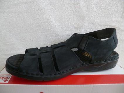 Rieker Damen Beliebte Sandale Sandalette dunkelblau Echtleder NEU!! Beliebte Damen Schuhe bb2eaa