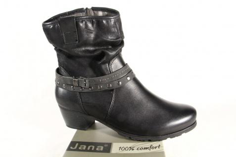 Jana Damen Stiefel, Stiefeletten, 25335 Stiefel Winterstiefel Leder schwarz 25335 Stiefeletten, NEU 63a3e6