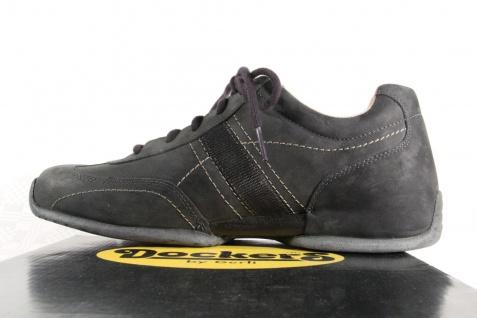 Dockers Echtleder Herren Schnürschuhe Sneaker Echtleder Dockers schwarz NEU! Beliebte Schuhe 4a7673