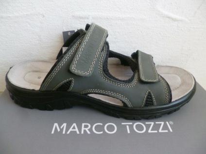Marco Tozzi Herren Pantolette Pantoletten Clogs Echtleder grau 17400 NEU!