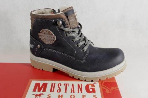 Mustang blau Stiefel Stiefeletten Schnürstiefel Stiefel blau Mustang 5037 NEU! 2c3317