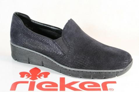 Rieker 53766 Slipper Sneakers Halbschuhe Sportschuhe Ballerina blau Leder NEU