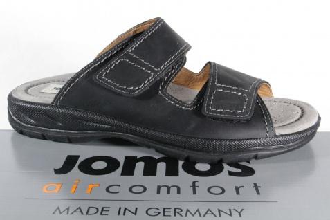 Jomos Herren Pantoletten Pantolette Clogs Echtleder schwarz 503601 Neu!