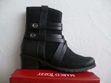 Marco Tozzi Damen schwarz Stiefeletten Stiefelette schwarz Damen Echtleder NEU! 2905af