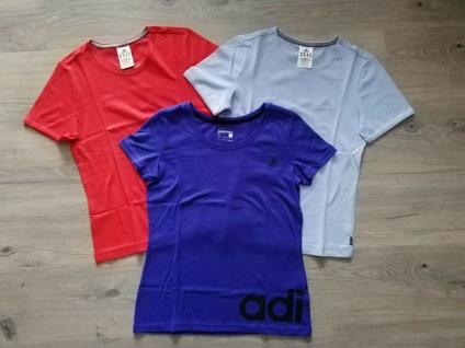 Adidas T-Shirts Tops Set Damen orange-rot lila blau Shirt Top Frauen Sport NEU!