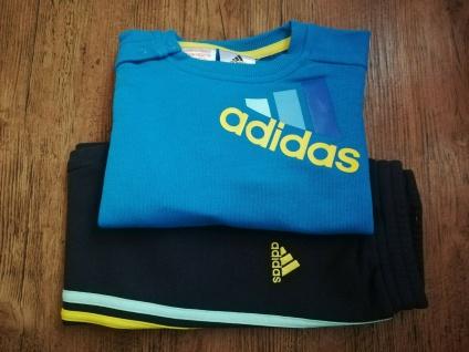 Adidas Jogger Jogginganzug Babyjogger Sweatshirt Sweathose hellblau gelb NEU
