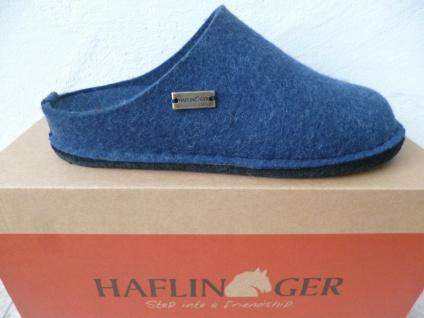 Haflinger Damen Pantoffel Pantoffeln Hausschuhe Pantoletten blau NEU!!