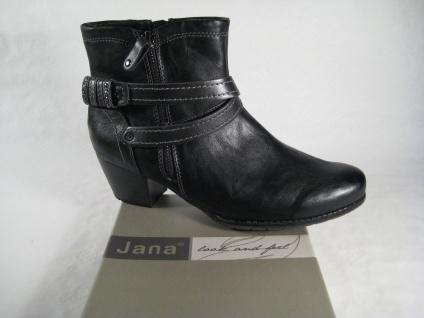 Jana Stiefelette, schwarz, Weite H, leicht gefüttert 25234 NEU