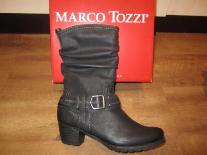 Marco Tozzi Stiefel, RV Stiefelette, schwarz, leicht gefüttert. RV Stiefel, NEU!! 097fe1