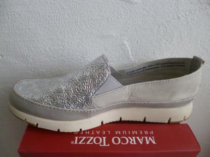 Marco Sneakers Tozzi Damen Slipper Ballerina Sneakers Marco Halbschuhe grau silber NEU! f1f7d5