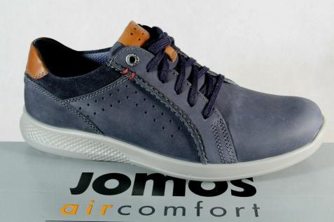 Jomos aircomfort Schnürschuhe Schnürschuh Sneakers Halbschuh blau Echtleder NEU!