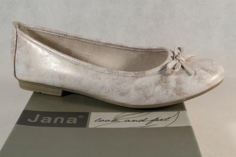 Soft Line by Jana Damen Ballerina Pumps Slipper rose/ gold Weite H 22163 NEU!