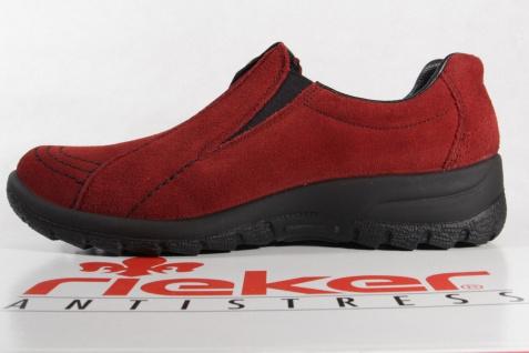 Rieker Tex-Leder Damen Slipper Halbschuhe, Sneakers Tex-Leder Rieker rot NEU! 8a0194