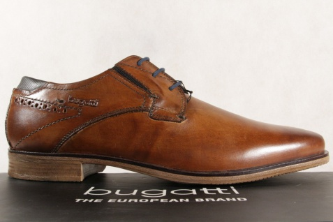 Bugatti Herren Schnürschuhe, Halbschuhe Sneaker NEU! Echtleder braun NEU! Sneaker e1158c