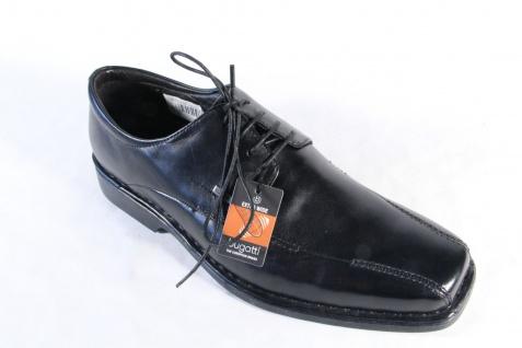 Bugatti schwarz Herren Schnürschuhe, Halbschuhe Sneakers schwarz Bugatti Leder NEU! a80f00