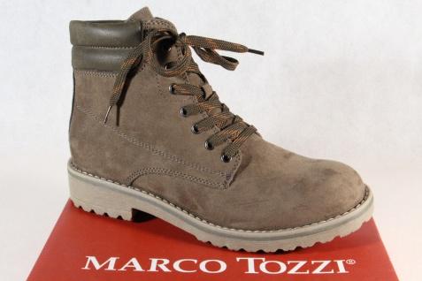 Marco Tozzi 26231 Damen Stiefel Stiefelette Boots Schnürstiefel khaki NEU!