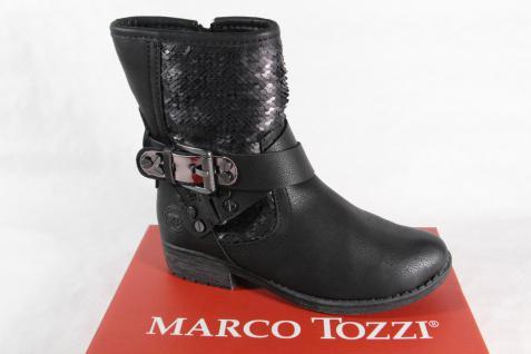 Marco Tozzi Kinder Damen Stiefelette NEU!! Stiefel Winterstiefel schwarz 46405 NEU!! Stiefelette eea413