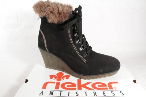 Rieker 78923 Stiefel Siefeletten Boots, schwarz, gefüttert, NEU