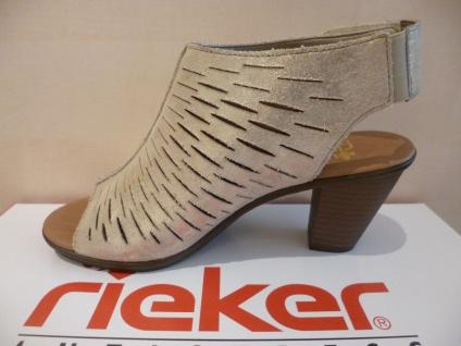 Rieker metallic Damen Sandale Sandalette gold metallic Rieker Leder 64197 NEU!! bd2cc0