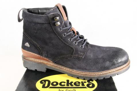 Dockers Stiefel Schnürstiefel Stiefel Winterstiefel NEU blau Leder used look NEU Winterstiefel a69740