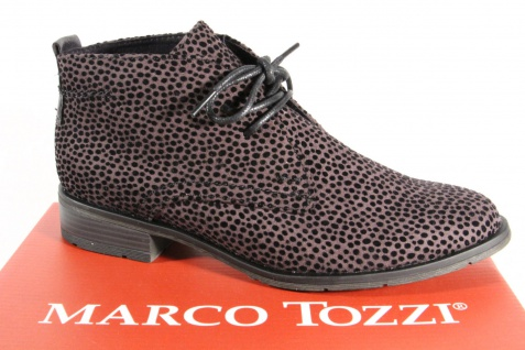 Marco Tozzi Damen Stiefel 25101 Stiefelette Schnürstiefel Boots grau NEU!!