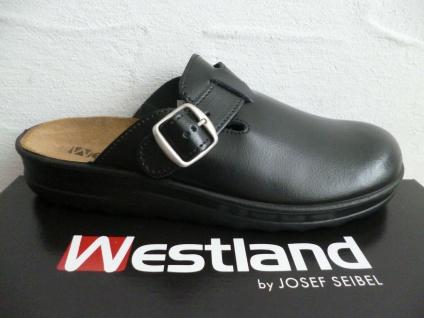 Westland by Seibel Romika Clogs Pantoletten Hausschuhe Leder schwarz Neu