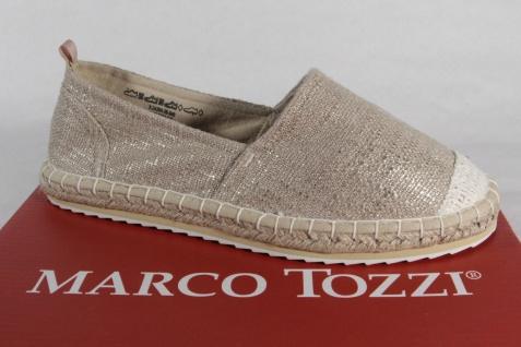 Marco Tozzi Damen Slipper Ballerinas Textil beige NEU!