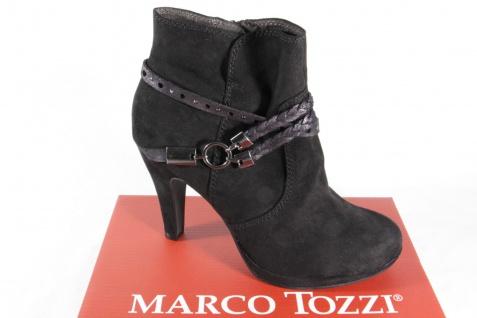 Marco schwarz, Tozzi Stiefel, Stiefeletten, schwarz, Marco Reißverschluß, gefüttert 25075 NEU! 1d2701