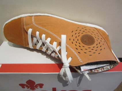 Rieker Stiefel mit Reisverschuß, orange NEU Stofffutter, NEU orange 4d01d5