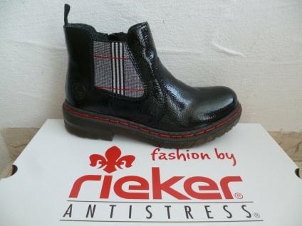 Rieker Damen Stiefel Stiefelette Stiefeletten Boots schwarz Lack 76264 NEU! - Vorschau 1
