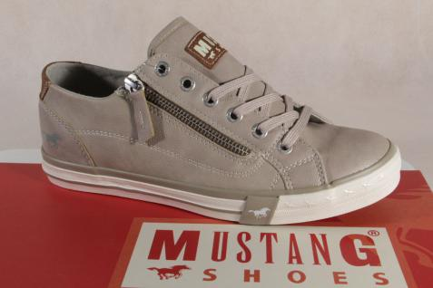 Mustang RV Schnürschuh Sneaker Halbschuh beige, RV Mustang Gummisohle 1146 NEU Beliebte Schuhe f29acf