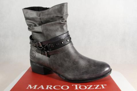 Marco Tozzi Stiefel, Stiefelette, NEU!! grau, leicht gefüttert, 25316 NEU!! Stiefelette, 6f5545
