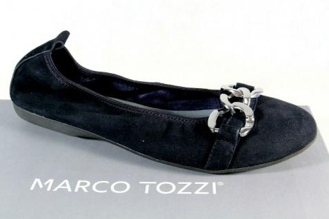 Marco Tozzi Ballerinas Slipper Halbschuhe Pumps blau Echtleder 22123 NEU!!