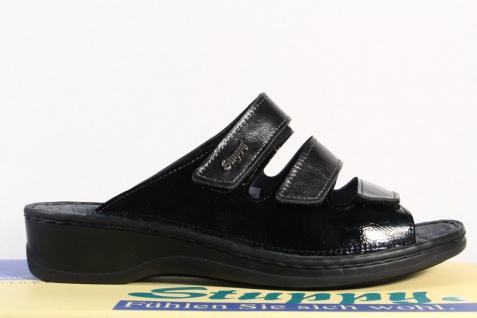 Stuppy Sandaletten Damen Pantolette Pantoletten Sandale Sandaletten Stuppy Leder schwarz/grau Neu! de7735