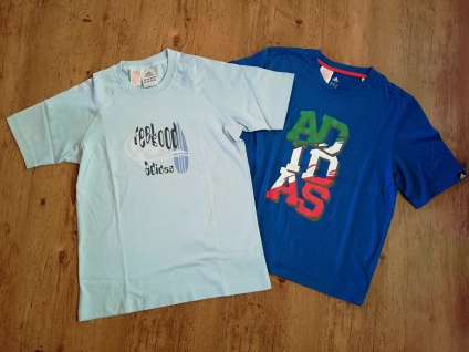 Adidas T Shirts Set Jungen hellblau dunkelblau blau Angebot Kinder Sport NEU!